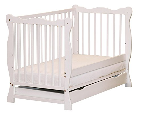 Hogartrend - Culla per neonato convertibile in sofà in 2colori bianco