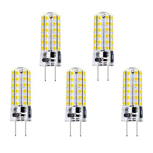 Bonlux GY6.35 12V LED 3.5W Bianco Caldo 3000K, Lampadine G6.35 Bi-pin Base JC Tipo Alogene 50W Sostituzioni, GY6.35 Capsule LED a Luce per Lampade di Segnalazione per Interni (Non-Dimmerabile, 5pz)