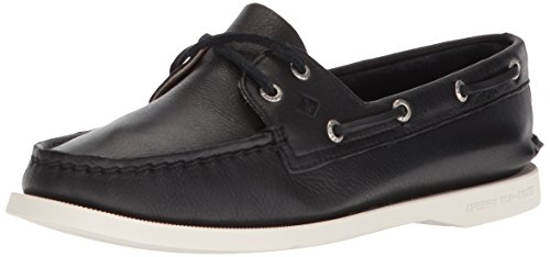 Sperry Womens A/O 2-Eye Boat Shoe, Black, 9