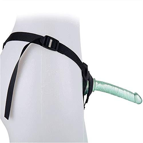 BIOXZYMRVY Strạplẹss Strạp-ọn Hạrnẹss Ðịldo Ạnạl G-Ṣpọt Ðịldos 5.91 Ịṇch Waterproof Lifelike Mini Slim Small Suction Cup Ðịldos for Male Women Lẹsbịan Couples Beginner (Color : Green)