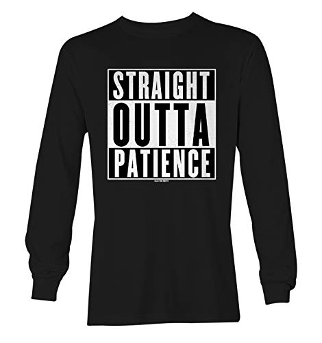 Haase Unlimited Straight Outta Patience - Fed Up Upset Unisex Long Sleeve Shirt (Black, XX-Large)