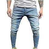 Nuevo 2021 Pantalones vaqueros para Hombre, Pantalones Casuales Moda Jeans rotos trend largo Pantalones Casual Pants Skinny Pantalon Fitness Jeans Pantalones Largos Ropa de hombre