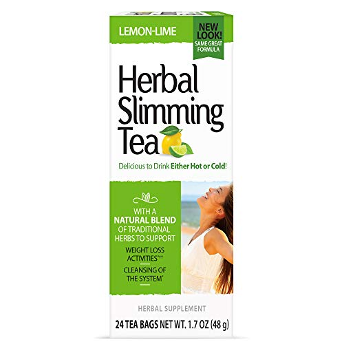21st Century Health Care, Herbal Slimming Tea, Lemon-Lime, 24 Tea Bags, 1.6 oz (45 g)