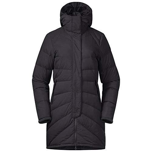 Bergans Oslo Down Light W Coat W/Hood Schwarz, Damen Daunen Wintermantel, Größe M - Farbe Black Melange