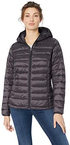 Amazon Essentials Women s Lightweight Long Sleeve Full Zip Water Resistant Packable Hooded Puffer product image