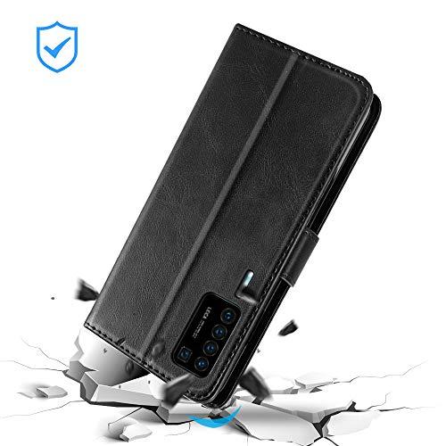 EASYCOB Hülle für Huawei P40 Pro Hülle, Premium Handyhülle Tasche Leder Flip Case Brieftasche Magnetischen Etui Schutzhülle für Huawei P40 Pro, Schwarz - 2