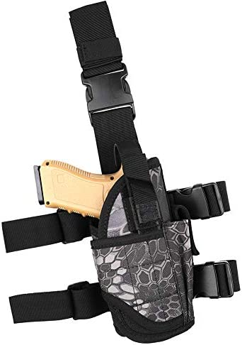Drop Leg Holster for Pistol Right Handed Tactical Thigh Airsoft Pistol Holster with Magazine product image