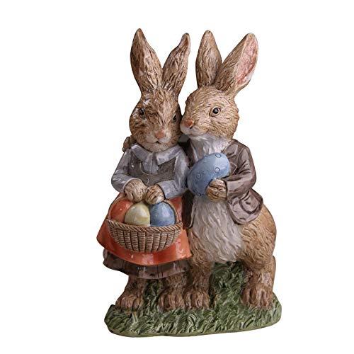 Osterhasen-Figur aus Kunstharz, für Paare, Hase, Skulptur, Ostern, Tischdekoration für Osterpartys