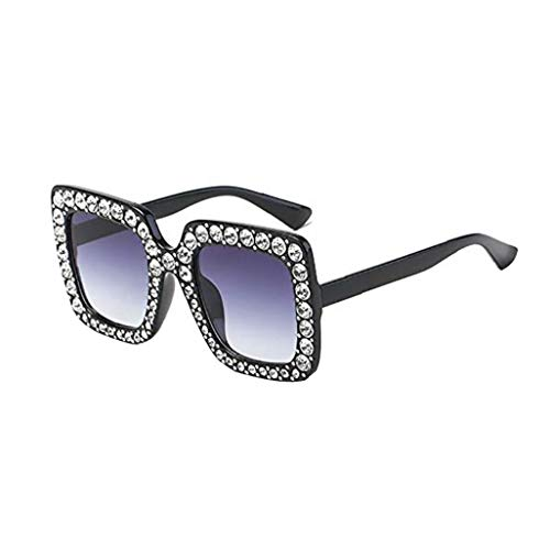 Oído Artificial Diamante Gafas De Sol Del Gato Marco Cuadrado Grande De Metal De Gran Tamaño Gafas De Sol Gafas De Sol De Navidad Regalo Para Las Mujeres Niñas