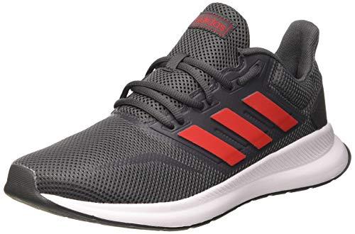 Adidas RUNFALCON, Zapatillas Running Hombre, Gris (Grey Six/Scarlet/FTWR White), 43 1/3 EU
