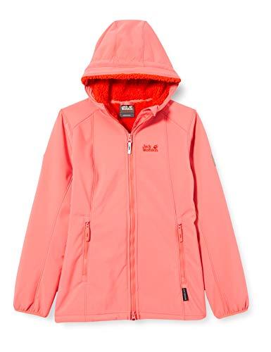 Jack Wolfskin Mädchen Kissekat Jacke, Coral pink, 152