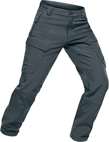 CQR Men's Fleece Lined Tactical Cargo Pants