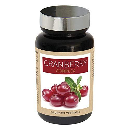 NUTRI EXPERT Cranberry Complex, Favorise l'Élimination Rénale, Contribue à une Fonction Rénale Normale, Lutte Contre les Troubles Urinaires, Canneberge, Airelle, Ortie, Prêle, Végan, 60 Gélules