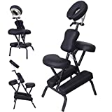 PU Leather Pad Portable Travel Massage Black Tattoo Spa Chair w/Carrying Bag 3'