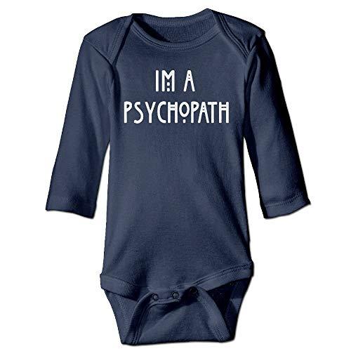 FULIYA Body de manga larga para beb con diseo de orugas, unisex, para nios, para nia, Im A psicpata