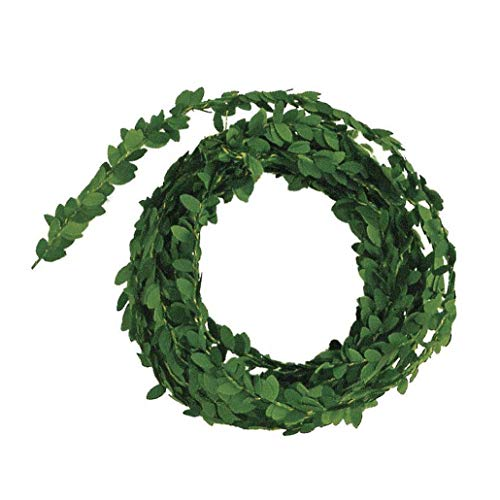 Leaves Wreath Artificial Garland Artificial Plant Decoration Green Leaves Christmas Ornaments 5M Home Party Supplies Home Interior Decoration