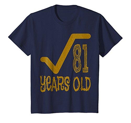 Kids 9 Years Old Ninth Birthday Boy Girl Math Nerd Geek T-shirt 10 Navy