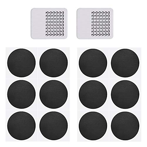 KBNIAN 12 PCS Self Adhesive Inner Tube Patches + 2 PCS Metal Rasps Emergency Tyre Bike Puncture Repair Kit for Urban Cycling Mountain Bicycle Hiking Bike and Other Inflatable Rubber Articles