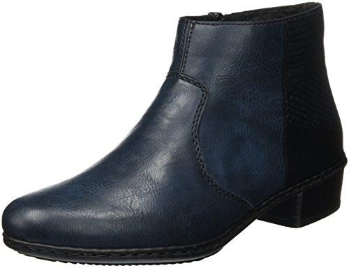 Rieker Damen Y0733 Kurzschaft Stiefel, Blau (Navy 14), 41 EU