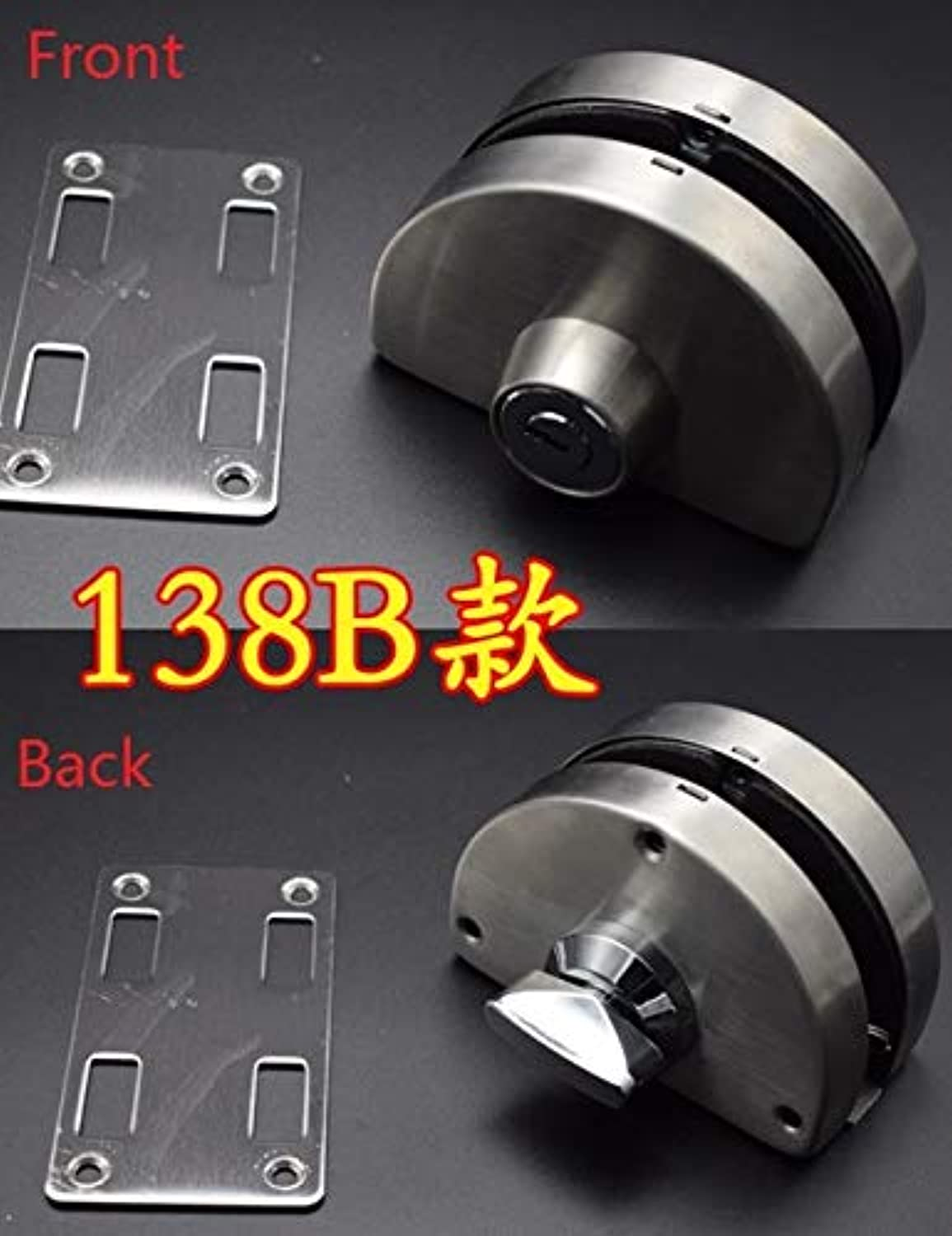 Stainless Steel Entry Gate 1012mm Glass Door Lock Locks W Key Swing and Sliding Door Round Design 4 Kinds  (color  138B)
