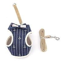 犬のハーネスベストと小型犬用ハーネスとリーシュペットの猫のスーツ、ネット肥厚ペットの弓 (Color : Color 6, Size : S)