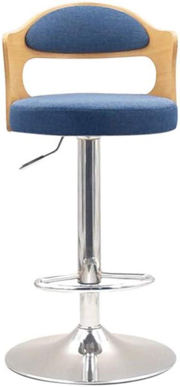 CJC Bar Stools Chair Seat Linen Swivel Adjustable Breakfast Barstool Kitchen (color   T5)