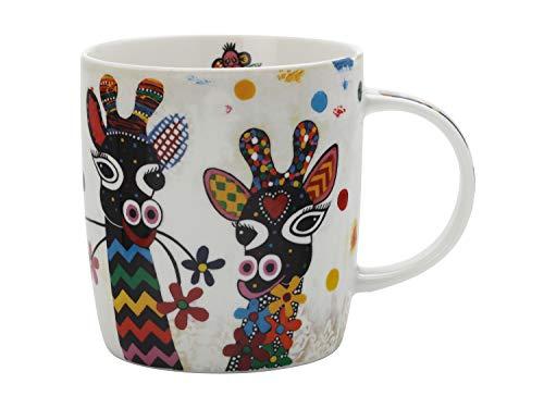 Maxwell Williams Mug coloré en porcelaine Motif vache avec inscription Betsy Multicolore, Porcelaine, Zafara (Giraffe)