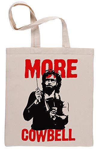 More Cowbell Essential Wiederverwendbar Einkaufstasche Reusable Beige Shopping Bag