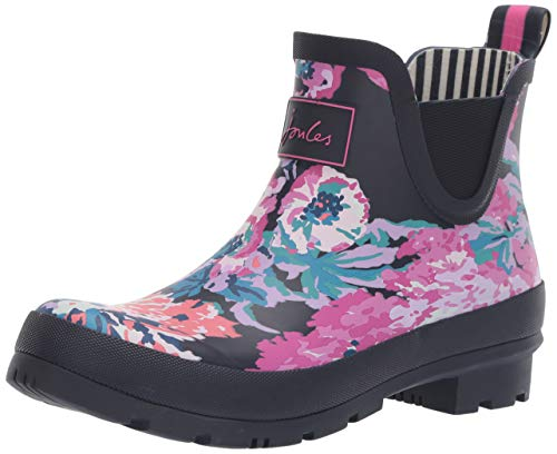 Joules Womens Wellibob Rain Boot, Navy All Over Floral,...