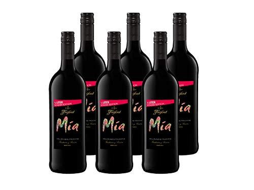 Mia Tinto Wein 1, halbtrocken, Rotwein aus Spanien, Begleiter für viele Gerichte, (6 x 1l)