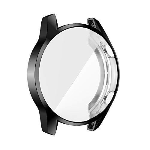 LGFCOK Protector de pantalla para Huawei Watch GT 2 46 mm 42 mm 2e Case GT2 Pro Soft Tpu resistente a los arañazos Shell Light Bumper Accesorios (Color: Negro, Diámetro de la esfera: Para GT2 42 mm)
