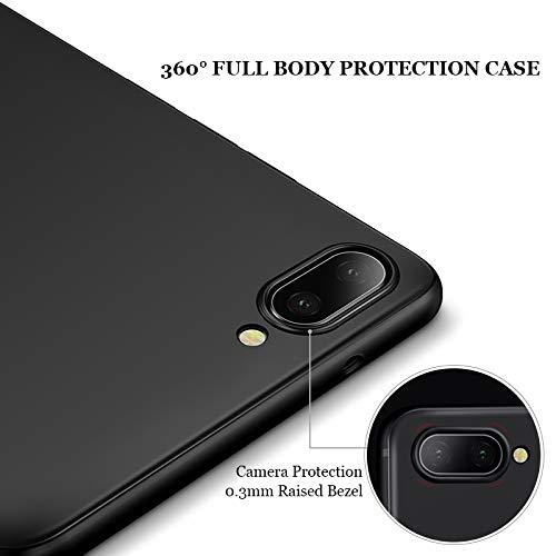 Olliwon Huawei Honor 10 Hülle, Dünn Leichte Schutzhülle Schwarz Silikon TPU Bumper Case Cover für Huawei Honor 10 - 2