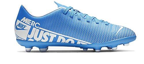 Nike Jr. Mercurial Vapor 13 Club MG, Botas de fútbol Unisex niño, (Blue Hero/White/Obsidian 414), 33 EU