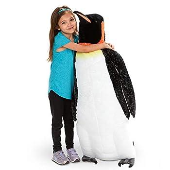 Melissa & Doug Giant Lifelike Plush Emperor Penguin Standing Stuffed Animal  3.4 Feet Tall