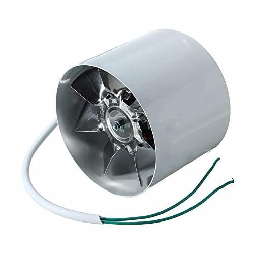 Ventiladores 1 unids / 2 unids 4 pulgadas de acero inoxidable tubo en línea de escape ventilador ventilador inodoro cocina colgante pared de la ventana con ventilador de aire ventilador de aire Mini e