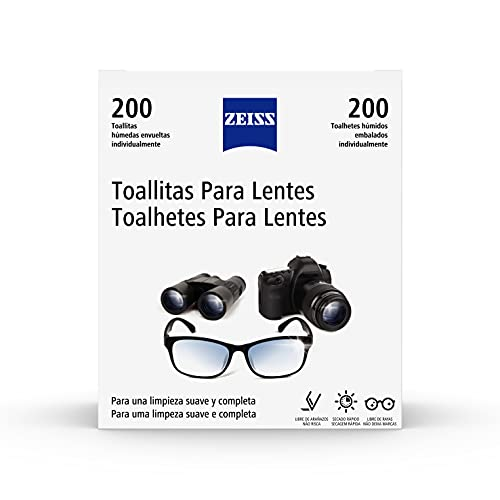 Zeiss Toallitas Limpiadoras Desechables Para Lentes – 200 Es, White