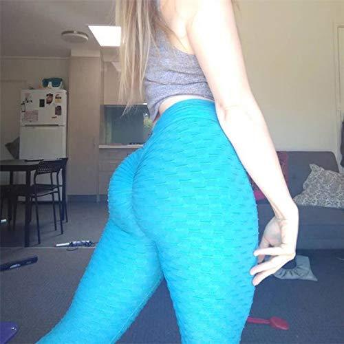 Leggings Pantaloni da Yoga Sexy Leggings Sportivi Vita Alta Push Up Fitness Slim Gym Calzamaglia da Corsa Pantaloni Sportivi da Allenamento Neri Leggings da Yoga XL 5049Lakeblue