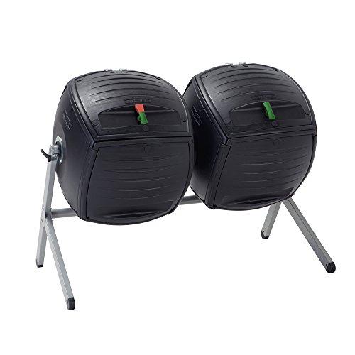 Lebenslange 60072Duell 50-gallon (189.3L) Dual Kompostmischer HDPE Plus Pulver beschichtetem Stahl Boden