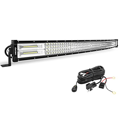 oEdRo LED Light Bar Curved with Wiring Harness Quad-Row 42In 1128W Spot Flood Combo Led Lights Work Lights Fog Driving Light Off Road Light 12/24V Fit for Pickup Jeep SUV 4WD 4X4 ATV UTE TruckTractor