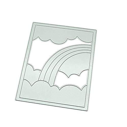 DaoRier Stanzschablonen Metall Schneiden Schablonen Regenbogen Wolken Stanzformen DIY Scrapbooking Papier Karten Sammelalbum Deko
