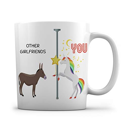 Other Girlfriends, Boyfriends You Unicorn Ceramic Coffee Mug - 11oz. - Funny Gag Gift Cup For Valentines Day, Girlfriends, Boyfriends, Birthday, Anniversary Present, I Love You Gifts (Girlfriend)