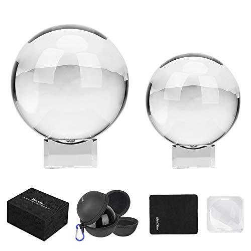 MerryNine - Juego de bolas de cristal con bolsa de cristal p