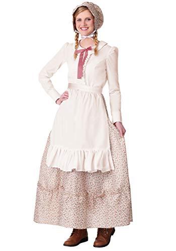 Pioneer Woman Costume Women's Pioneer Dress, Bonnet, Apron Large