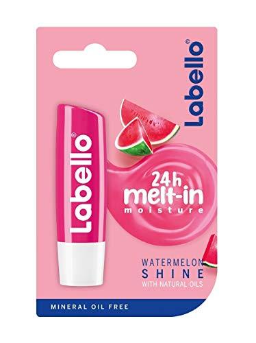 Labello Lippenpflegestift Watermelon Shine/ Mit Wassermelonen-Aroma & Schimmerpigmenten/ 4,8g/ Lippen-Pflege-Stift