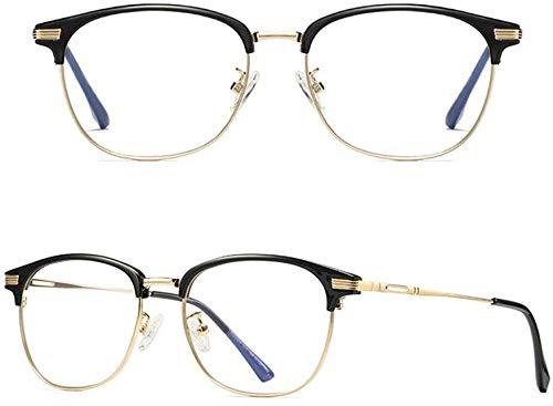 Unisex superlicht gepolariseerde zonnebrillen, premium PVC leesbril blauw licht en schittering blokkering geen vergrootglas metalen frame anti-overbelasting van de ooglens glazen voor mannen