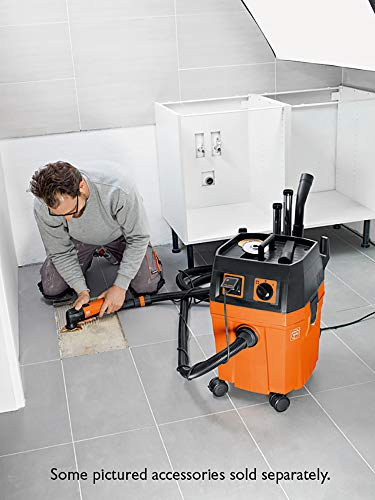 FEIN Turbo II Vacuum Cleaner, 8.4 Gallon, 1100W   Includes: 13 ft Suction Hose, Tool Coupling with Suction Power Control, Cellulose Filter, 1 Fleece Filter Bag