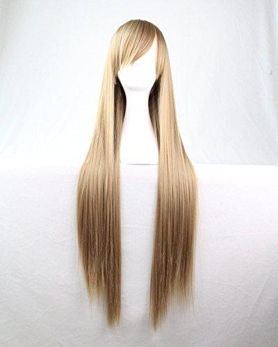Femmes/Ladies linge 80cm Couleur gris longue Cosplay DROITE/Costume/Anime/Fête/Bangs pleine perruque sexy