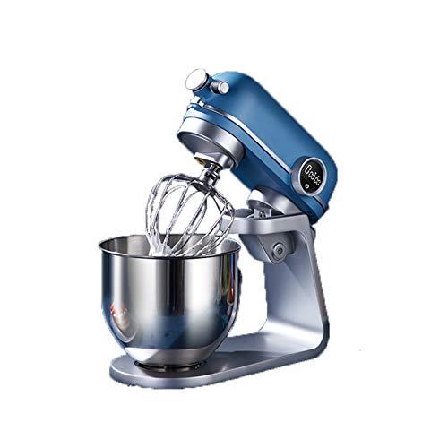 CSDY-Batidora Amasadora, Amasadora De Pan Repostería, 800 W 5.2 L Robot De Cocina Multifunción, Potente Y Silencioso, Cuerpo Metálico, 6 Velocidades, Amasador, Batidor Y Varillas