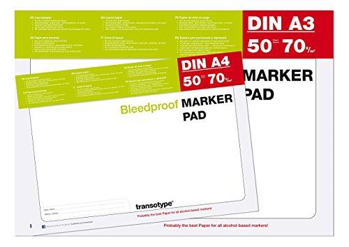 Copic Marker Block A4 und A3 je 50 Blatt - Sparpaket - Markerblock Pad für Alkohol Marker Zeichenblock 70g