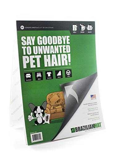 BrazilianMat Dog, Cat Hair Remover Sheets - Pet Hair, Lint, Glitter and Pet Fur...